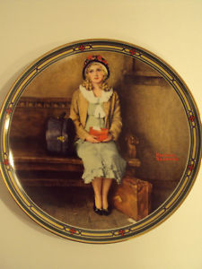 """Norman Rockwell Decorative Plate – """"A Young Girl's"""