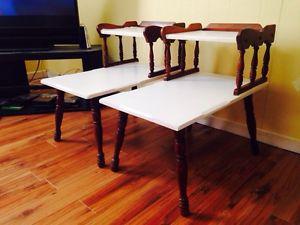 Pair of Vintage End Tables / Bedside Tables