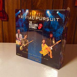 ROLLING STONES TRIVIAL PURSUIT  GAME SEALED / UNOPENED