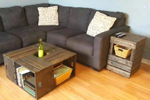 Rustic style coffee table