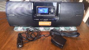 Sirius Satellite Radio Receiver and Home Kit Boom Box