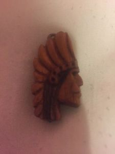 Small hand carved Indian head