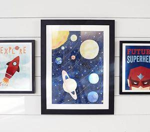 Solar System Wall Kids/Nursery Art (Pottery Barn Kids)
