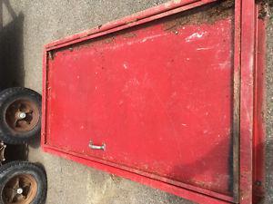 Steel door with frame
