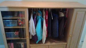 Storage Cabinet / Mudroom Closet - Knotted Pine Look