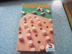 Vintage Solitaire Wooden Game by Schmidt Spiele
