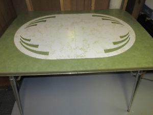 Vintage Table (faux marble top) with chrome legs.