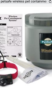 Wanted: looking for a big dog cage and a wireless petsafe