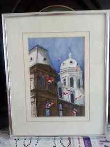 Watercolor of NB Legislature by Patricia Strang - Local