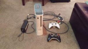 Xbox  GB with 2 controllers