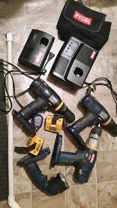 so Many Ryobi 18V Tools for Sale Online Comes with 3 drills
