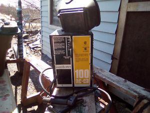 110 VOLT AC WELDING MACHINE WITH HELMET+BETTER ROD