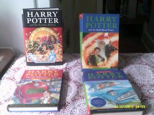4 HARRY POTTER BOOKS