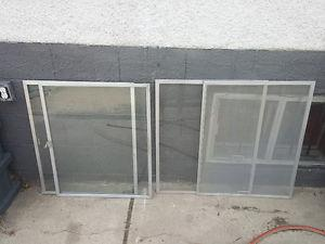 Aluminum frame window panes & screen