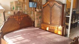 Antique Marquetry Bedroom Set, Reminiscent of Beauty & the