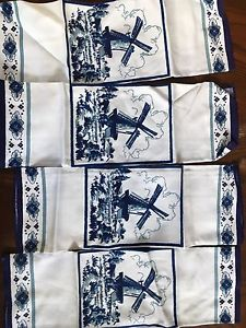 Beautiful cloth napkins and tablecloth from Holland
