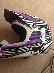 Girls youth motocross Fox helmet