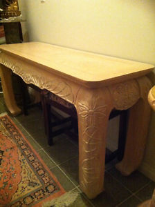 """Large solid wood sofa or entry hall table - 54"""" by 17"""" by"""