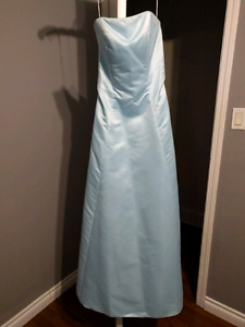 Light Blue Grad Dress size perfect condition $100