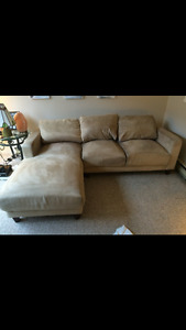 Microsuede couch PERFECT for condo