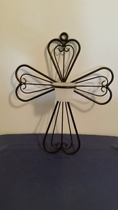 Partylite wall hanging cross