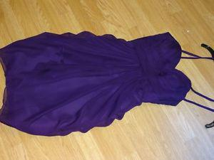 Purple short Brides Maid dress