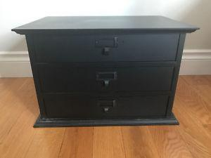 Solid Wood 3 Drawer Jewellery Box