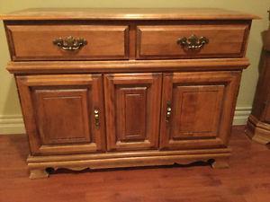 Solid birch dresser for sale.