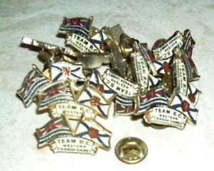 Team B.C. Western Canada Games pin lot / 1 dozen