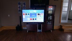 """Toshiba 65"""" smart tv and  watt Toshiba blue ray"""