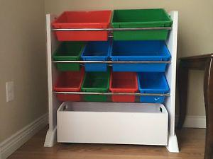 Toys organizer in perfect condition