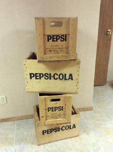 Vintage Wooden Pepsi Crates/Boxes