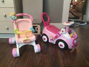 Wanted: Girls stroller/walker and walker/rider
