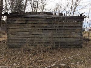 Wood barn beams and barn board