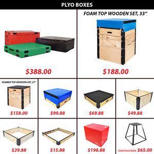 Wooden Set Jump Plyo Box Boxes Endurance Speed Hard Foam