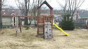 Wooden swing/play set
