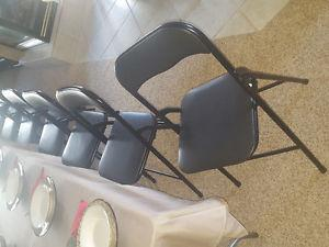 25 Vinyl Folding chairs LIke New Condition
