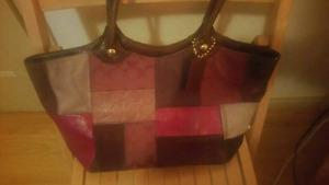 Authentic Coach Multicolor Berry Patchwork Handbag