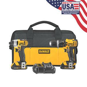 Brand New DeWALT Hammer Drill and Impact Driver Kit MADE IN