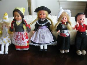 """COLLECTION of FIVE ADORABLE LITTLE """"MINI"""" DOLLS"""