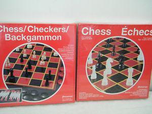 Chess/Checkers/Backgammon and Crib games