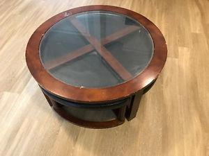 Coffee Table with 2 ottomans !!