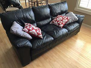 Complete 4 Piece Leather Living Room Suite