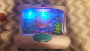 Crib light with soothing music