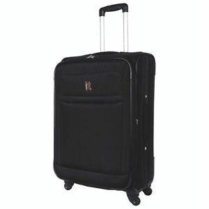 IT Luggage 24in Algarve 4 Wheel Spinner-Teal or Black-NEW in