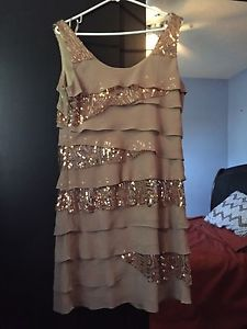 Laura gold dress size 12