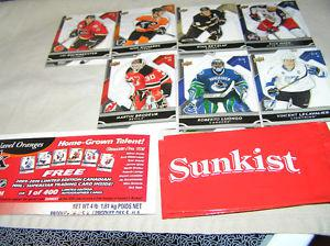 Sunkist  Upper Deck Hockey Cards