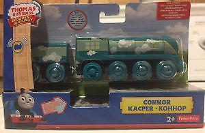 THOMAS & FRIENDS WOODEN RAILWAY-ROLL & WHISTLE CONNOR TRAIN