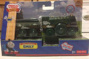THOMAS & FRIENDS WOODEN RAILWAY-ROLL & WHISTLE EMILY TRAIN