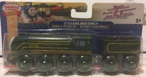 THOMAS & FRIENDS WOODEN RAILWAY-STREAMLINED EMILY TRAIN SET